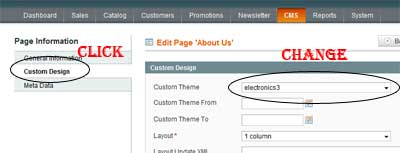 Magento Custom Design Pages